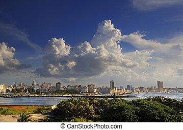 Havana cityscape from El Morro Fortress - Beautiful...
