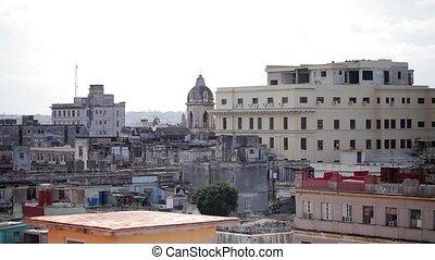 Havana cityscape view at sunny day