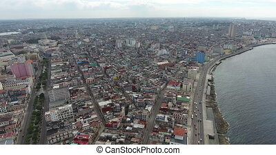 Havana Cuba Aerial View Cuban City Landscape Caribbean Sea -...