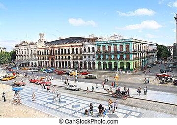 HAVANA-FEBRUARY 3:Tourists in Prado st. on February 3, 2010...