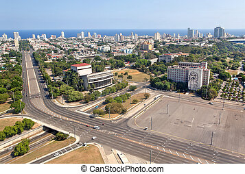 HAVANA - MAY 14: Aerial view of the Plaza of the Revolution...