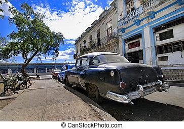 havana, rua, oldtimer