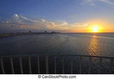 Havana skyline at dusk