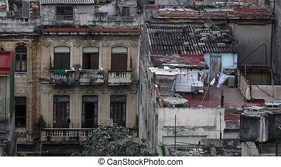 havana skyline shot from a roof terrace, cuba