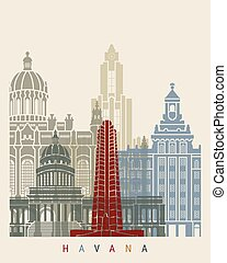 Havana V2 skyline poster