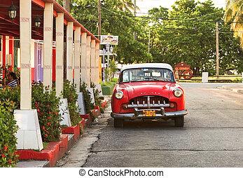 havanna, berozsdásodott, autó, 14:, színhely, american utca, cuba-may, öreg