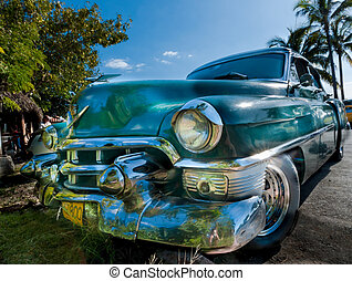 HAVANNA, CUBA - DECEMBER 24:cuba car vintage look,2012 - ...