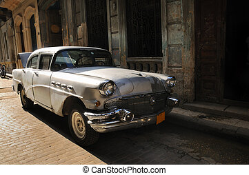 havanna, oldtimer, autó