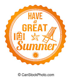 Have a great summer stamp