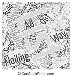 Have a Mailing List of Your Own Word Cloud Concept