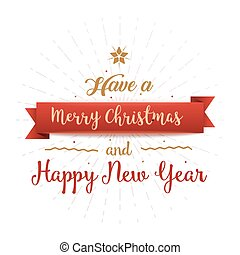 Have A Merry Christmas And A Happy New Year.Banner Or Greeting Card For Merry Christmas And Happy New