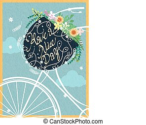 Have a nice day calligraphy poster