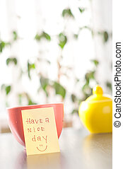 have a nice day with smile and cup coffe - have a nice day ...