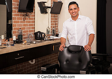 Have a seat in our barber shop