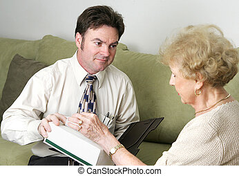 Have a Tissue - A sympathetic counselor offering an upset...