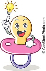 Have an idea baby pacifier character cartoon