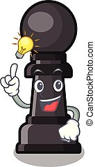 Have an idea chess pawn on in the character vector illustration