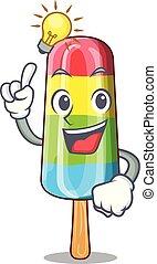 Have an idea colorful ice cream stick on mascot