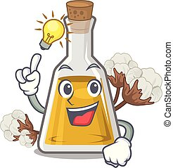 Have an idea cottonseed oil at the cartoon table vector ...