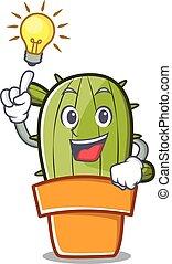 Have an idea cute cactus character cartoon