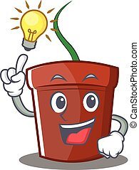 Have an idea flower pot character cartoon