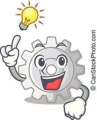 Have an idea gear icon cartoon the design best
