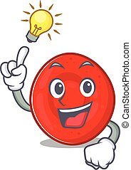 Have an idea gesture of erythrocyte cell cartoon character ...