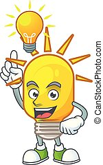Have an idea lamp icon cartoon on white background.