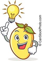 Have an idea mango character cartoon mascot vector...