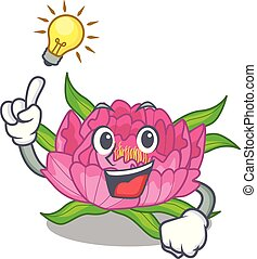 Have an idea peony flower grow in mascot stems