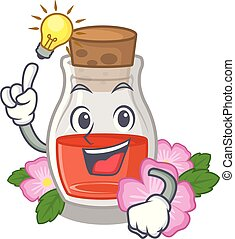 Have an idea rosehip seed oil on a mascot vector ...