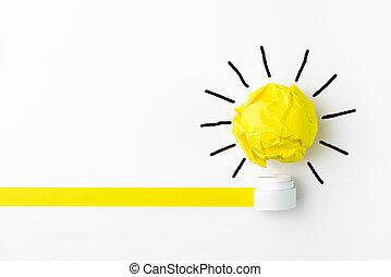 Have an idea - Concept of ideas using light bulb, with...