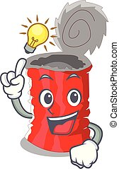 Have an idea tincan ribbed metal character a canned vector...