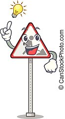 Have an idea toy road work sign mascot shape