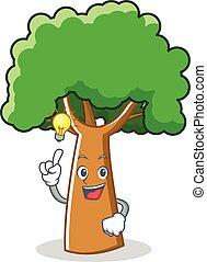 Have an idea tree character cartoon style