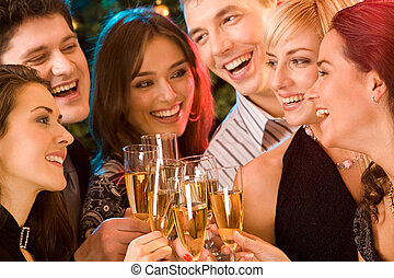 Have fun - Image of friends having  fun together at a party