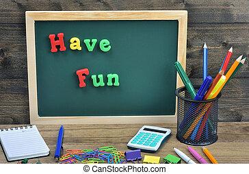 Have Fun word