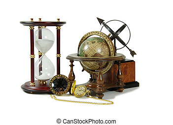 Have Time and distance - Hour glass used to measure time,...