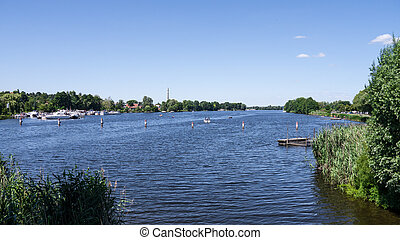 havel near werder (brandenburg) in summer
