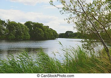 Havel river at summer time