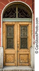haveloos, houten, oud, armoedig, deur