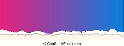 haveloos, papier, blauwe achtergrond, paarse , rand