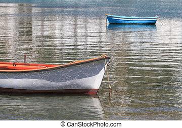 haven, bootjes, eiland, visserij, mykonos