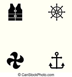 haven, set, pictogram