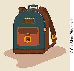 Haversack design over beige background, vector illustration