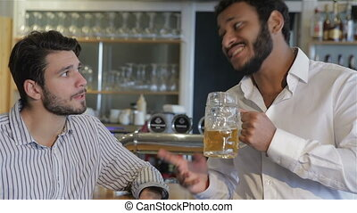 Having a pint with friend