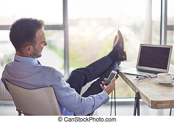 Having break in comfortable position