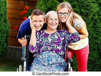 Having Fun with Grandmother