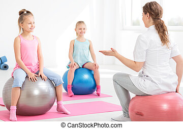 Having good time during posture correction classes - Young...