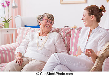 Having no problems with intergenerational communication -...